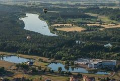 Birstonas -度假村在立陶宛,热空气气球节日  免版税库存照片