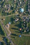 Birstonas - en semesterortstad i Litauen, höjdsikt Arkivbild