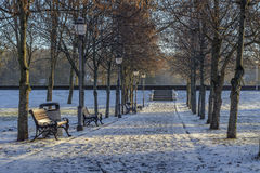 Birstonas walkway by Vytautas hill Royalty Free Stock Images