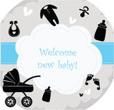 Birth Announcement Banner Stock Image