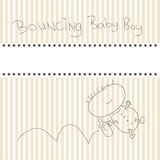 Birth announcement card Stock Images