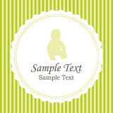 Birth announcements or baby shower card. Birth announcements or baby shower. Green invitation card vector illustration