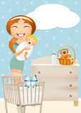 Birth of a baby boy Royalty Free Stock Images