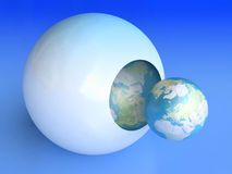 Birth Of Blue Planet Stock Photo