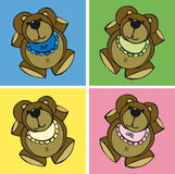 Birth or born gift. Birth or born colored bear Royalty Free Stock Image
