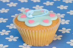Birth Of A Boy Cake Stock Image