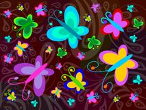 Birth of butterfly Royalty Free Stock Photos