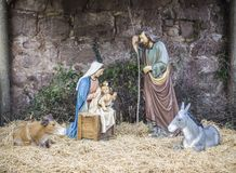 Christmas, Portal de Belen, birth Stock Images
