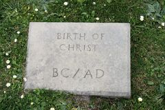 Birth of Christ stone Stock Images