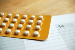 Birth control pill Stock Photo