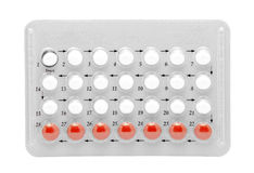 Birth control pills stock photo