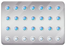 Birth control pills in pack Stock Photo