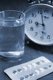 Birth control pills time Royalty Free Stock Image