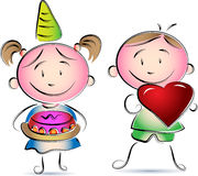 Birth day children. Cartoon image Stock Image