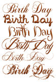 Birth Day chocolate text isolated on white background Royalty Free Stock Image