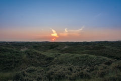 The birth of the day!. Meeting sunrise in the dunes Royalty Free Stock Image