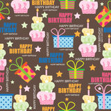 Birth day seamless pattern, vector illustration Stock Photography