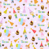 Birth day seamless pattern, vector illustration Royalty Free Stock Image