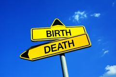 Birth and Death stock images