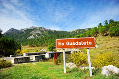 Birth of the Guadalete River, Sierra de Grazalema Natural Park, Cadiz province, Spain Stock Photos