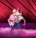 """Birth of his son-Dance drama """"The Dream of Maritime Silk Road"""" Stock Images"""