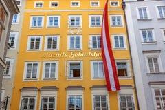 Birth house of Wolfgang Amadeus Mozart, Salzburg Stock Image