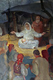 Birth of Jesus. Altarpiece in parish church of Saint Mark in Zagreb, Croatia Royalty Free Stock Photos