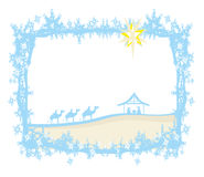 Birth of Jesus in Bethlehem. Abstract frame Stock Image
