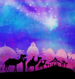 Birth of Jesus in Bethlehem. Royalty Free Stock Images