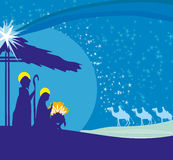 Birth of Jesus in Bethlehem. Stock Images