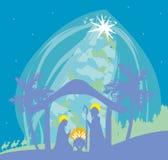 Birth of Jesus in Bethlehem. Royalty Free Stock Photo