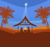 Birth of Jesus in Bethlehem. Royalty Free Stock Image
