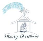 Birth of Jesus in Bethlehem Stock Images