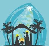 Birth of Jesus in Bethlehem Stock Photos