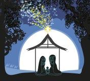 Birth of Jesus in Bethlehem. Vector Illustration Royalty Free Stock Image