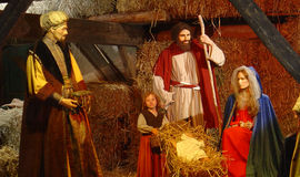 Birth of Jesus Christ. From Brussels. Christmas crib Stock Photos