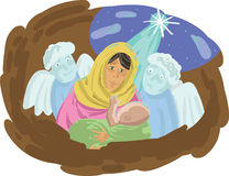 The birth of Jesus Stock Photography