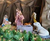 Birth of Jesus  nativity sculpture Stock Photo