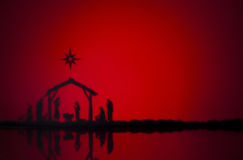 Birth Jesus. Silhouette of the crib in Bethlehem Stock Photo