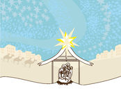 Birth of Jesus. Vector Illustration Stock Photography