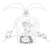 Birth of Jesus. Vector Illustration Stock Image
