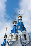 Birth of mary cathedral. Cathedral of Birth of Mary in Samara city. Russia Stock Image