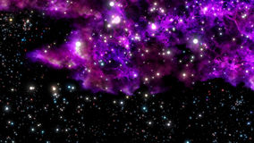 Birth of a new nebula from explosion or Big Bang Royalty Free Stock Images