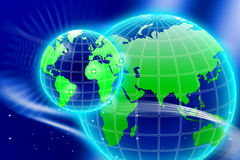 Birth of New World Grid Stock Photo