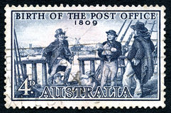 Birth of the Post Office Australian Postage Stamp Stock Image
