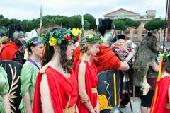 Birth Of Rome Festival 2015 Royalty Free Stock Image
