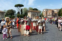 Birth Of Rome Festival 2015 Royalty Free Stock Photos