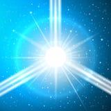 The birth of a supernova. Futuristic vector illustration Royalty Free Stock Image