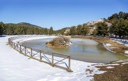Birth of the Tajo, la Fuente Garcia in the town of Frias de Albarracin Royalty Free Stock Images