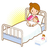 Birth to the mother and baby. Marriage and Parenting Character D Royalty Free Stock Images